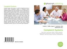 Bookcover of Complaint Systems