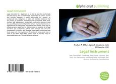 Buchcover von Legal Instrument