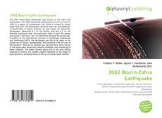 Bookcover of 2002 Bou'in-Zahra Earthquake