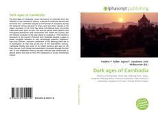 Capa do livro de Dark ages of Cambodia