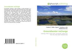 Bookcover of Groundwater recharge
