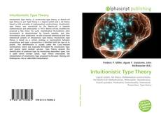 Couverture de Intuitionistic Type Theory