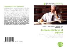 Bookcover of Fundamental Laws of England