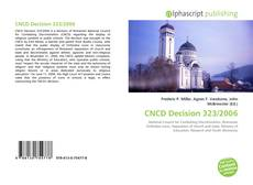 Bookcover of CNCD Decision 323/2006
