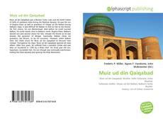 Bookcover of Muiz ud din Qaiqabad