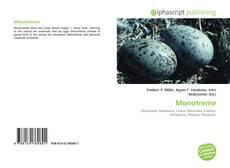 Обложка Monotreme