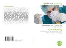 Bookcover of Acid throwing