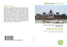 Bookcover of Régime de Vichy