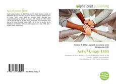 Bookcover of Act of Union 1800