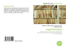 Bookcover of Legal formalism
