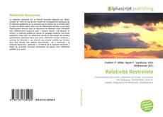 Borítókép a  Relativité Restreinte - hoz