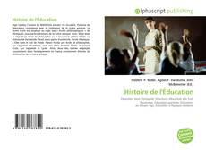 Copertina di Histoire de l'Éducation