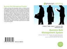 Portada del libro de Business Rule Management System