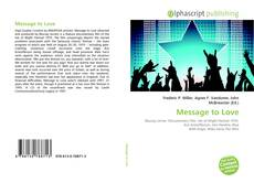 Bookcover of Message to Love