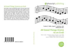 Buchcover von All Good Things (Come to an End)