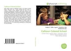 Bookcover of Calhoun Colored School