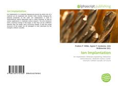 Bookcover of Ion Implantation