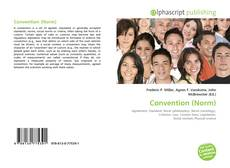 Bookcover of Convention (Norm)