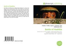 Capa do livro de Battle of Haditha