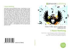 Buchcover von I Have Nothing