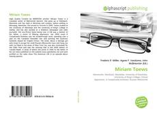 Bookcover of Miriam Toews