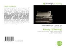Copertina di Faculty (University)