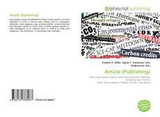 Bookcover of Article (Publishing)