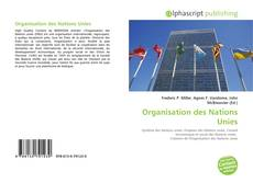 Bookcover of Organisation des Nations Unies