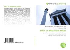 Обложка Edict on Maximum Prices