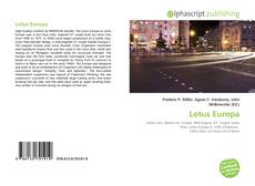 Bookcover of Lotus Europa