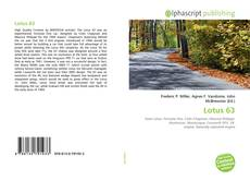 Bookcover of Lotus 63