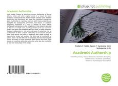 Bookcover of Academic Authorship