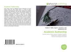 Couverture de Academic Authorship