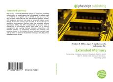 Bookcover of Extended Memory
