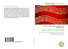 Buchcover von Can I Have It Like That