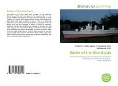 Battle of the Rice Boats的封面