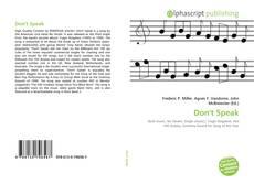 Buchcover von Don't Speak