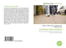 Обложка Cardross road accident