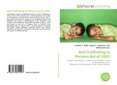 Anti-Trafficking in Persons Act of 2003 kitap kapağı