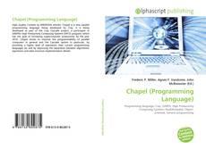 Capa do livro de Chapel (Programming Language)