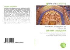 Jehoash Inscription kitap kapağı