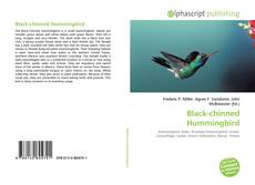 Bookcover of Black-chinned Hummingbird