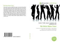 Be Here Now Tour kitap kapağı