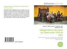 Capa do livro de Indépendance de Facto du Tibet entre 1912 et 1951