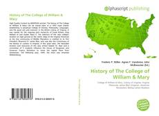 Bookcover of History of The College of William