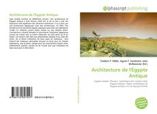 Bookcover of Architecture de l'Égypte Antique