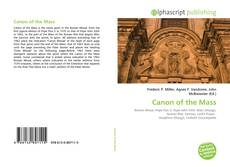 Bookcover of Canon of the Mass