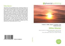 Bookcover of Miles Master