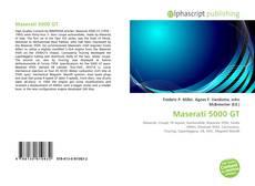 Bookcover of Maserati 5000 GT
