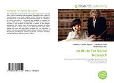 Buchcover von Institute for Social Research